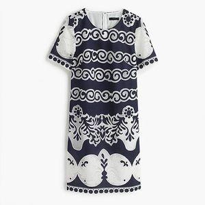 J. Crew | Short-sleeve shift dress in ornate lace